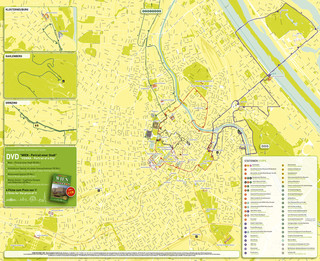Map of Vienna hop on hop off bus tour with Vienna SightSeeing