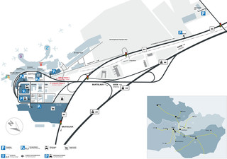 Map of Vienna International airport & terminal (VIE)